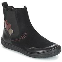 Topánky Dievčatá Polokozačky Geox J HADRIEL GIRL Čierna
