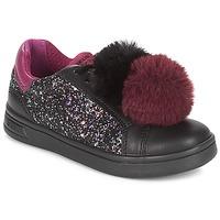 Topánky Dievčatá Nízke tenisky Geox J DJROCK GIRL Čierna / Fialová