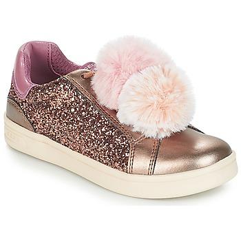 Topánky Dievčatá Nízke tenisky Geox J DJROCK GIRL Béžová / Ružová