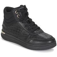 Topánky Dievčatá Členkové tenisky Geox J AVEUP GIRL Čierna / Zlatá