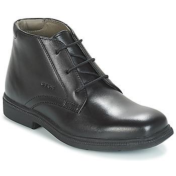 Topánky Chlapci Polokozačky Geox JR FEDERICO Čierna