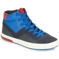 Topánky Chlapci Členkové tenisky Geox J ALONISSO BOY Námornícka modrá / Červená