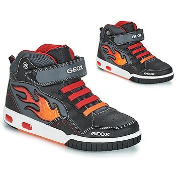Topánky Chlapci Členkové tenisky Geox JR GREGG Čierna / Červená