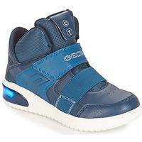 Topánky Chlapci Členkové tenisky Geox J XLED BOY Námornícka modrá