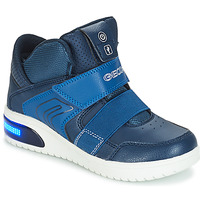 Topánky Chlapci Nízke tenisky Geox J XLED BOY Námornícka modrá
