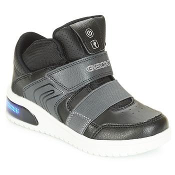 Topánky Chlapci Členkové tenisky Geox J XLED BOY Čierna