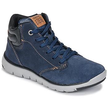 Topánky Chlapci Členkové tenisky Geox J XUNDAY BOY Námornícka modrá / Čierna