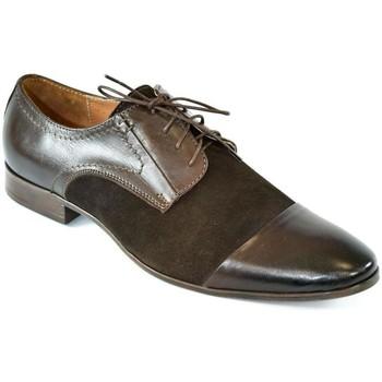 Topánky Muži Nízka obuv do mesta I-Guana Pánske kožené hnedé poltopánky SENAUL hnedá