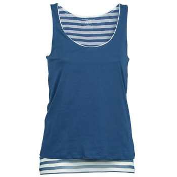 Oblečenie Ženy Tielka a tričká bez rukávov Majestic BLANDINE Námornícka modrá / Biela