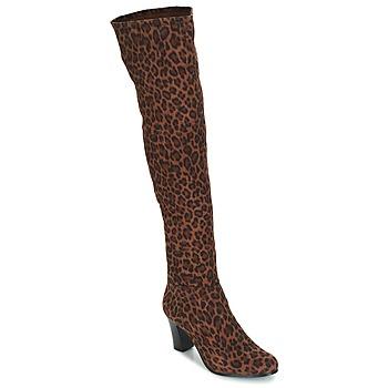Topánky Ženy Čižmy do mesta André PRISCA 3 Leopard