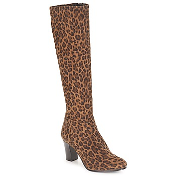 Topánky Ženy Čižmy do mesta André GANTELET 4 Leopard