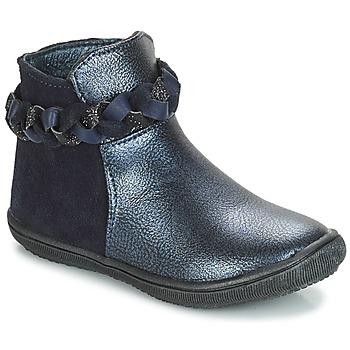 Topánky Dievčatá Polokozačky André HELOISE Námornícka modrá