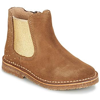 Topánky Dievčatá Polokozačky André CANNELLE Ťavia hnedá