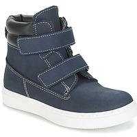 Topánky Chlapci Polokozačky André ALESSIO Námornícka modrá