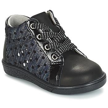 Topánky Dievčatá Polokozačky André POIS Čierna