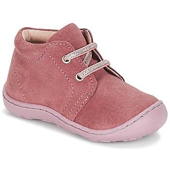 Topánky Dievčatá Polokozačky André PALE Ružová