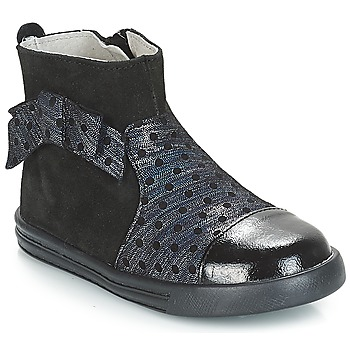 Topánky Dievčatá Polokozačky André NUIT Čierna