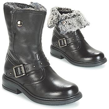 Topánky Dievčatá Polokozačky André GIBOULEE Čierna