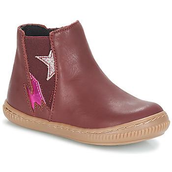 Topánky Dievčatá Polokozačky André MAGENTA Bordová
