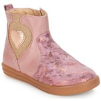 Topánky Dievčatá Polokozačky André MAUVE Ružová