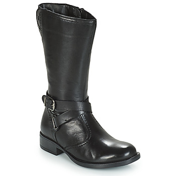 Topánky Dievčatá Čižmy do mesta André HIVER Čierna