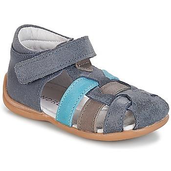Topánky Chlapci Sandále André LES PRALINES Modrá
