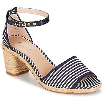 Topánky Ženy Sandále André JAKARTA Pásikový vzor / Modrá