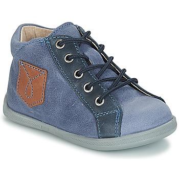 Topánky Chlapci Polokozačky André POCHE Modrá