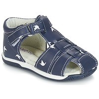 Topánky Chlapci Sandále André ORIGAMI Modrá