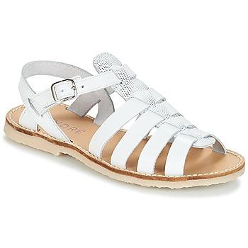 Topánky Dievčatá Sandále André CANDIE Biela