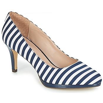 Topánky Ženy Lodičky André CRYSTAL Pásikový vzor / Modrá