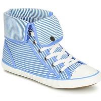 Topánky Ženy Členkové tenisky André GIROFLE Biela / Modrá