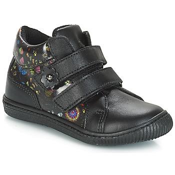 Topánky Dievčatá Nízke tenisky Citrouille et Compagnie JUPETTE Čierna / Kvetovaná