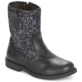 Topánky Dievčatá Polokozačky Citrouille et Compagnie JUCKER Čierna