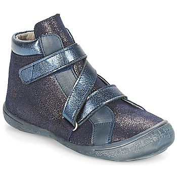 Topánky Dievčatá Polokozačky Citrouille et Compagnie HISSOU Modrá