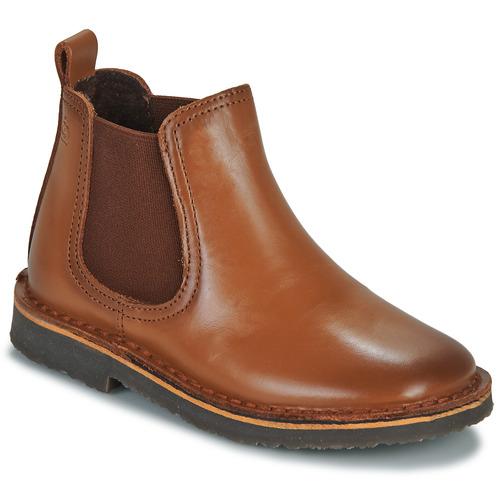 Topánky Chlapci Polokozačky Citrouille et Compagnie JOVETTE Ťavia hnedá