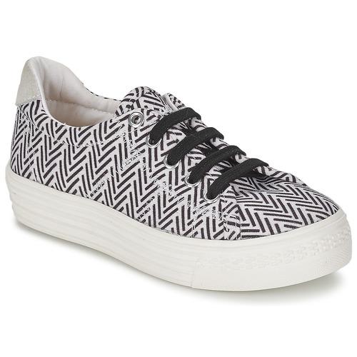 Topánky Dievčatá Nízke tenisky Shwik STEP LO CUT Čierna / Biela