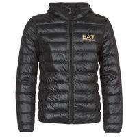 Oblečenie Muži Vyteplené bundy Emporio Armani EA7 TRAIN CORE ID M DOWN LIGHT Čierna / Zlatá