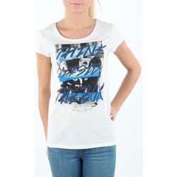 Oblečenie Ženy Tričká s krátkym rukávom Lee T-shirt Damski SLIM T CLOUD DANCER L41MEVHA white