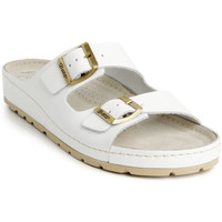 Topánky Ženy Šľapky Batz Dámske kožené biele šľapky ZENNA biela