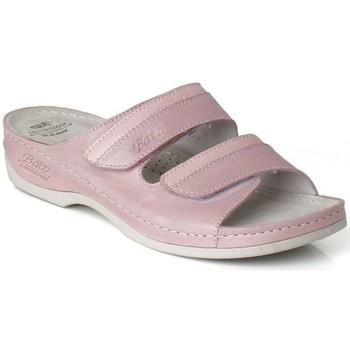 Topánky Ženy Šľapky Batz Dámske kožené ružové šľapky REA ružová