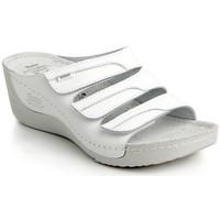 Topánky Ženy Šľapky Batz Dámske kožené biele šľapky OLGA biela