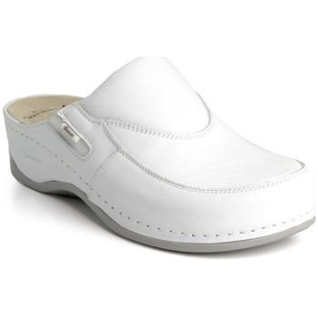 Topánky Ženy Šľapky Batz Dámske kožené biele šľapky FC10 biela