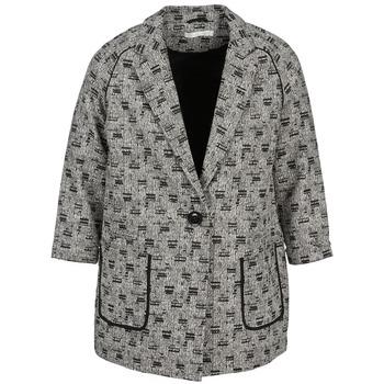 Oblečenie Ženy Kabáty See U Soon CARA Čierna / Biela