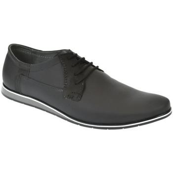 Topánky Muži Nízka obuv do mesta Krezus Pánske kožené čierne topánky IVEN čierna