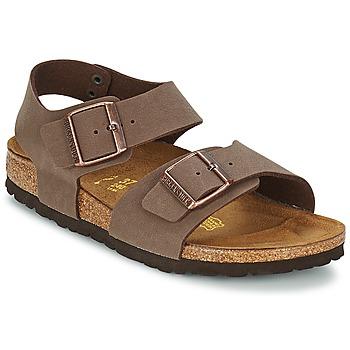 Topánky Deti Sandále Birkenstock NEW YORK čiernohnedá kávová