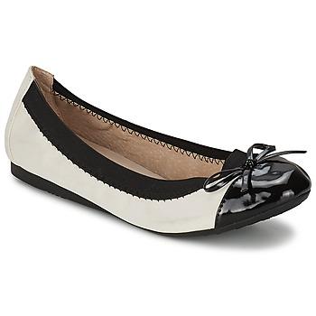 Topánky Ženy Balerínky a babies Moony Mood ELALA Biela / Čierna