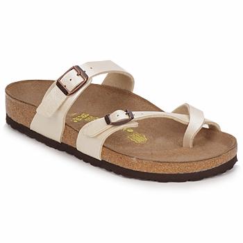 Topánky Ženy Šľapky Birkenstock MAYARI Krémová