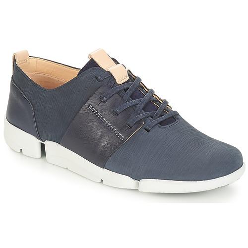 Topánky Ženy Nízke tenisky Clarks Tri Caitlin Námornícka modrá / Combi