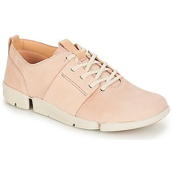 Topánky Ženy Nízke tenisky Clarks Tri Caitlin Svetlá telová / Ružová